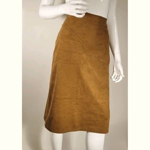 CHICO'S Skirt A-line Faux Suede Knee BUNDLE&SAVE!